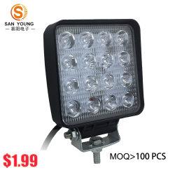 Индикатор рабочего освещения 48W 4 дюйма для автомобиля погрузчиком Работа АВТО светодиодный фонарь рабочего освещения 16LED 12V 24В пост. тока