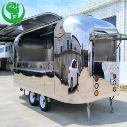 Camion alimentaire en acier inoxydable pour la vente l'Amérique