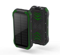 범용 휴대용 방수 태양광 동력 뱅크 30000mAh(휴대폰 포함 비상 상황 시 매우 밝은 LED 조명