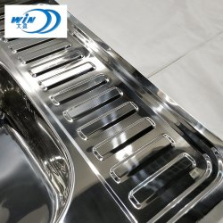 Foshan Moda polaco e moderna da Bacia de cozinha de aço inoxidável para lavar louça de Dimensão Global 600*600mm