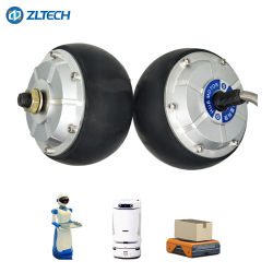 낮은 진동 4.5inch 6n. M 300rpm 24V 150kg 짐 24V DC 전기 Agv 차를 위한 무브러시 바퀴 허브 모터