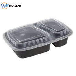 Comida descartáveis de alta qualidade caixas de almoço Bento Caixa, recipiente de plástico, fruto de PP transparente de vegetais Pet Caixa de embalagem de plástico de PVC