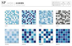 클래식 25X25mm 스퀘어 모자이크 방수 미끄럼 방지 블루 혼합 모자이크 풀 타일 세라믹