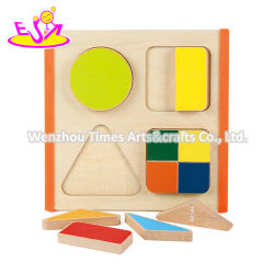 Top Fashion DIY puzzles madeira geométricas para bebés W12f056