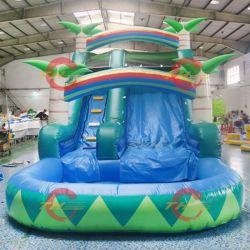 8X4X5MH gran cocotero Piscina de agua inflable diapositiva