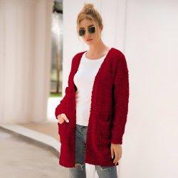 Maglione all'ingrosso del cardigan delle lane delle signore del maglione del cachemire della donna della fabbrica