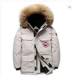 Parka Abbigliamento Canada stile uomo oca giacca invernale giù spesso Giacca da vento OEM Bubble Jacket Top Coat per giovani uomini all'aperto Abbigliamento casual