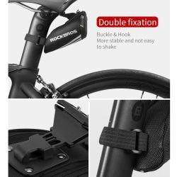 록브롬 자전거 액세서리 자전거 가방 휴대용 반사형 새들 백 테일 시트 로드 나일론 자전거 가방