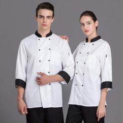 Hôtel unisexe uniforme blanc Customed Kitching Vêtements Vêtements Chef de Cuisine
