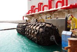 3.3 X 10.6 Neumático de caucho flotante profesional de los guardabarros en Barco Barco con la cadena de goma y de neumáticos