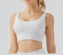 Tessuto di costola Donna allenamento traspirante Bras Yoga ad alto impatto Bra fitness Top