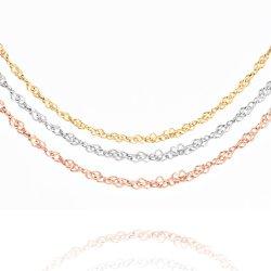 Joyería Popular accesorios de acero inoxidable Singapur Pulsera Collar de cadena chapado en oro 18K Joyería para dama