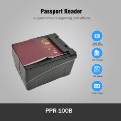 Free SDK lettore di codici a barre RFID Mrz OCR Airport Passport Scanner con piattaforma orizzontale (PPR-100B)