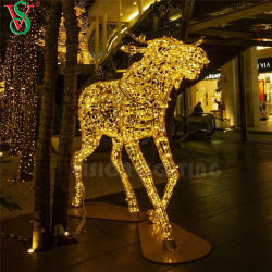 Factory HOT Vente de grandes LED lumineux de Noël de plein air les animaux