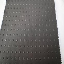 ポリエステル 96% 、スパンデックス 4% 、 4 ウェイストレッチ 100D プレーンエンボス TPU クリア通気性フィルムラミネート加工ニットバック 3 層防水素材