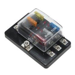 Lame de 6 contacts Boîte à fusibles avec indicateur LED le bloc de fusibles pour Voiture Bateau caravane Marine 12V 24V