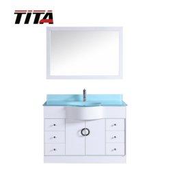 Vidrio templado Vanidad de vanidades de baño de la Cuenca Superior solo T9229-48W