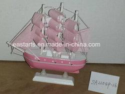 Creative Hand-Carved clásica de artesanía de madera Modelo de barco de juguete