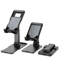 El ángulo ajustable en altura soporte de teléfono Asunto amable teléfono móvil teléfono plegable plenamente titular titular para todos los teléfonos/iPad Mini/Tablet PC