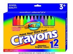 12PCS Crayones de color para los niños de la escuela