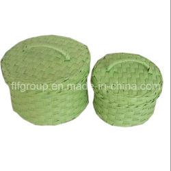 Impresos artesanales ecológicas decorada Cesta de paja de trigo con Color personalizado