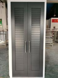 戸棚のためのルーバーが付いている合成の設計された木のドアのBiのフォールドか振動ドア及びキャビネット及びWaredrobe