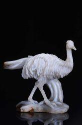 Agate naturelle des oiseaux sculptés Scrupture Crystal Guérison #ia67