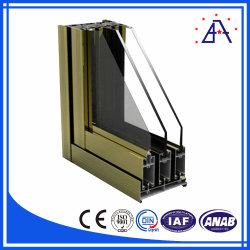 La construcción de puertas y ventanas de perfil de extrusión de aluminio