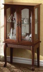 KD-F0001 Elegant Wooden Curio Cabinet Glass Shelf