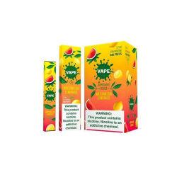 Melhor CIGS E descartáveis 2020 Caneta Nic-Salt Vape 600borlas para líquidos sabores de frutos e cigarros