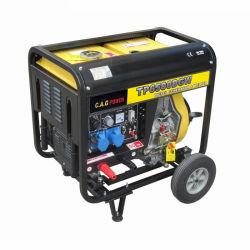 Portable corrente 2 di 5kw 5kVA 5000watt 210A in 1 generatore diesel multifunzionale della saldatura ad arco