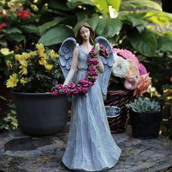 Harz-Engels-Statue-Geschenk Polyresin Engels-Dekoration-Geschenk