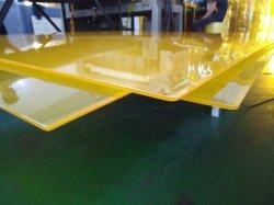 주황색 색깔 높은 투명도 4mm 두껍게 단단한 플라스틱 투명한 PVC 엄밀한 장 널