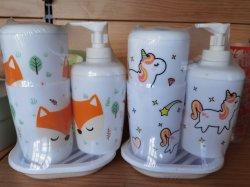 Complet en plastique accessoire de la salle de bains set inclut : savon/distributeur de lotion, brosse à dents titulaire, Tumbler, et de savon 4 pièces Ensemble de salle de bains blanche accessoire