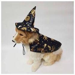 Chien de Costumes, Costumes d'Halloween pour les petits chiens, Creative chien Cape avec witch hat, Halloween Costume Pet ESG12442