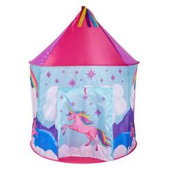 Einhorn-Zelt für Mädchen-Innenprinzessin Castle Kids Play Tent