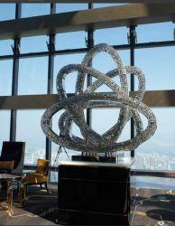 Mix médias acrylique et de l'art en acier inoxydable pour l'hôtel