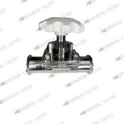 Membrana a membrana con morsetto manuale in acciaio inox per uso sanitario con tubo Corpo (HW-DV 1001)