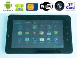 7 Telefon-Tablette PC Allwinner A13 des Zoll-2g G/M Doppelkamera WiFi 3G des Android-4.0