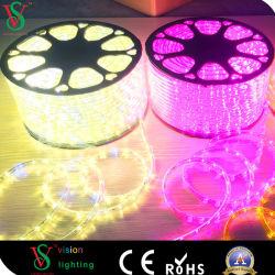 10mm, 2 câbles 13mm Forme ronde corde claire lumière à LED