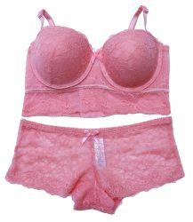 Senhoras Fashion Lace Bra e meias Definir Conjunto de lingerie sexy com alça removível Senhoras roupas íntimas Senhoras lingerie sexy roupas íntimas Senhoras Meias Bra-Walmart/BSCI