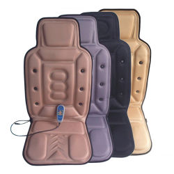 Vibration magnétique et chauffage arrière Coussin de massage pour siège de voiture Shiatsu