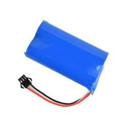 بطارية ليثيوم قابلة لإعادة الشحن 7,4 فولت 3,7 فولت 2h 4ah 2s1p 18650 مصنوعة حسب الطلب حزمة للسيارة اللعبة / الكاميرا / الماء اختيار