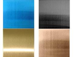 La couleur de la plaque en acier inoxydable pour la décoration colonne murale fabriqués en Chine