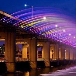Ponte no exterior de aço inoxidável Cachoeira Digital fonte de água