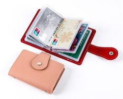 24의 카드 구멍 직업적인 형식 디자인 PU 신용 카드 홀더 PU 카드 지갑 PU 가죽 홀더