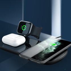 3 в 1 зарядное устройство беспроводной связи Dock совместим для Airpod зарядной станции ци Быстрая беспроводная подставка для зарядки аккумуляторной батареи