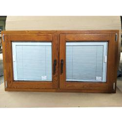 Designs de tamanhos padrão Molduras de madeira de teca 3 Vidro de abertura do Antigo Francês de madeira Casement Windows