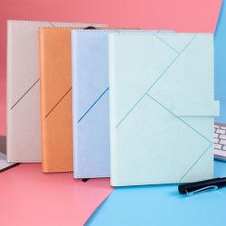 Kundenspezifisches kreatives PU-Zapfen-Leder-Notizbuch mit Taste