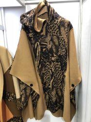 Sobredimensión de la moda Otoño Invierno de polvo de la mujer de lana Chaqueta con cuello solapa Wind-Proof untar